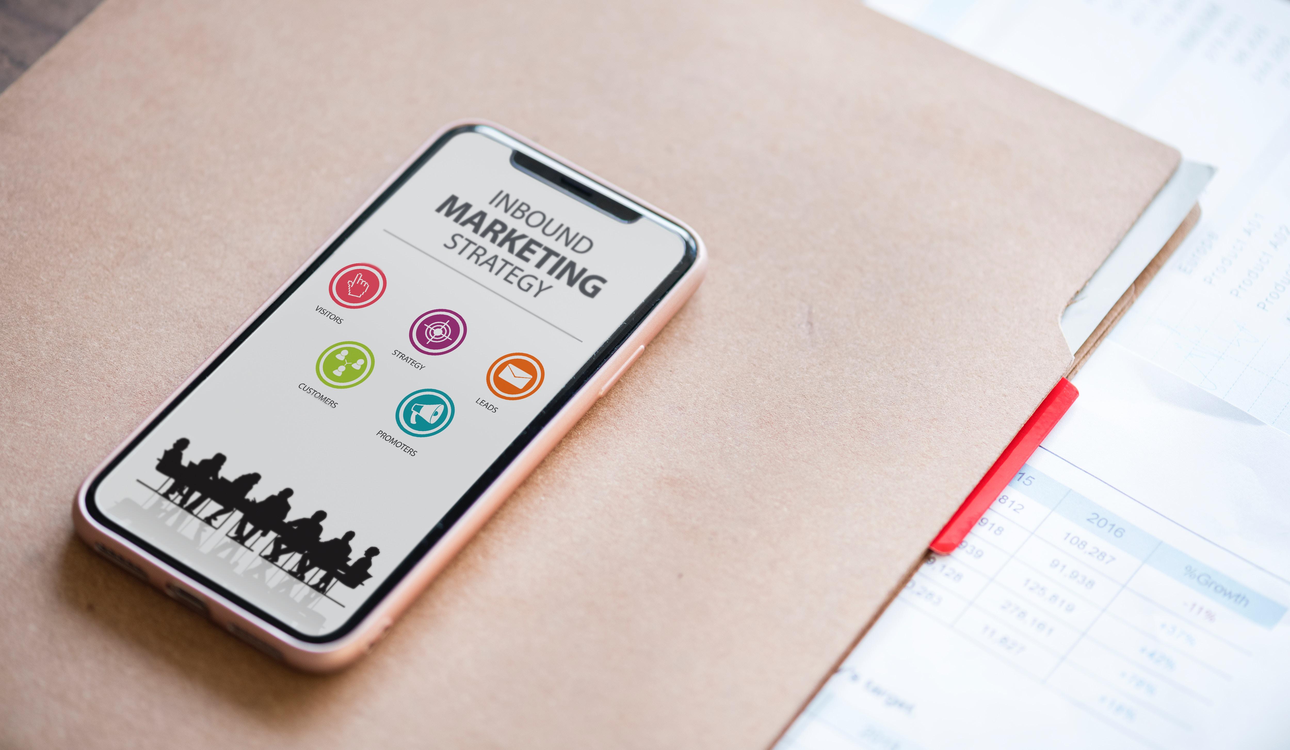 Marketingplan på telefonen
